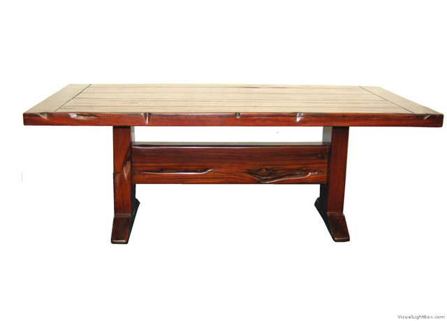 02 sleeper wood sleeper dining table for Table exterieur 1m